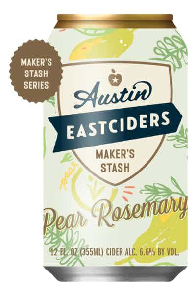 Austin Eastciders Maker's Stash Pear Rosemary Cider