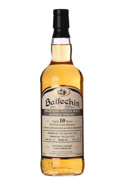 Ballechin Single Malt Scotch 10 Year