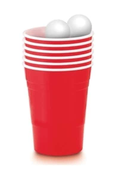 Beer Pong Kit - 20 Party Cups & 2 Ping Pong Balls