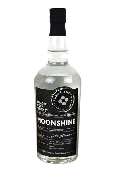 Black Button Unaged Corn Whisky Moonshine