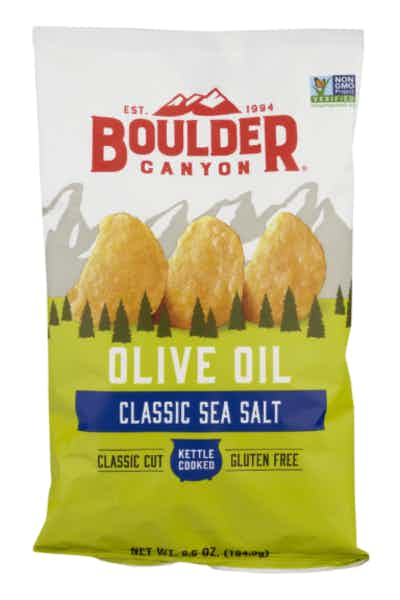 Boulder Canyon Kettle Potato Chips, Olive Oil Natural Sea Salt