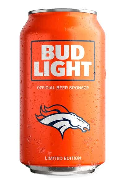 Bud Light Denver Broncos NFL Team Can