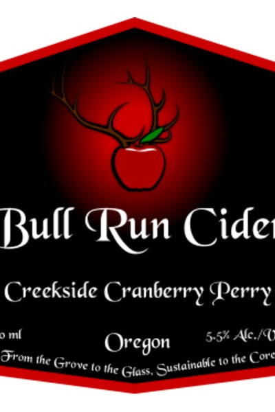 Bull Run Cider Creekside Cranberry Perry