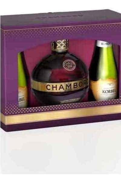 Chambord Gift Set with Two Korbels