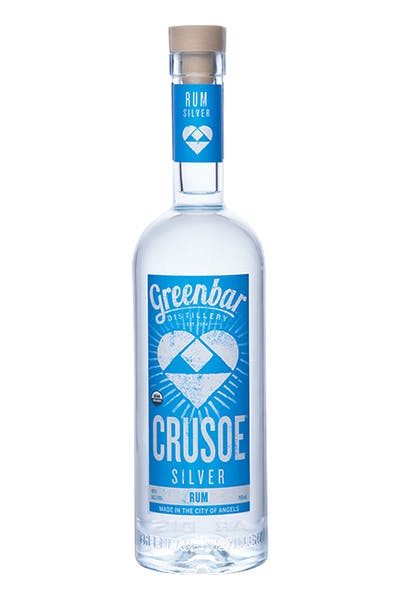 Crusoe Silver Rum from Greenbar Distillery