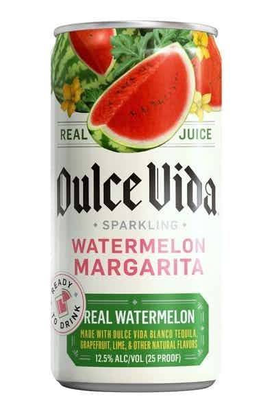 Dulce Vida Tequila Sparkling Watermelon Margarita- Ready To Drink Cans