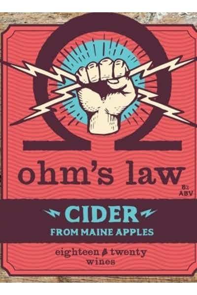 Eighteen Twenty Ohm's Law Hard Cider