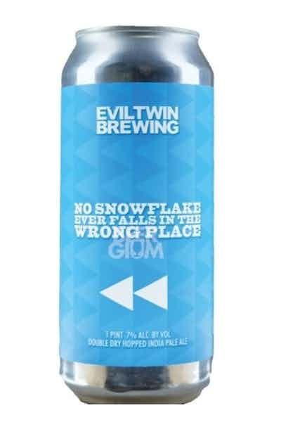 Evil Twin No Snowflake Ever Falls In The Wrong Place IPA