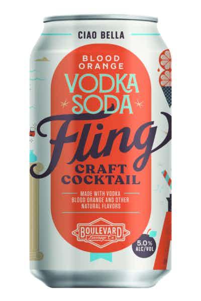 Fling Craft Cocktails Blood Orange Vodka Soda