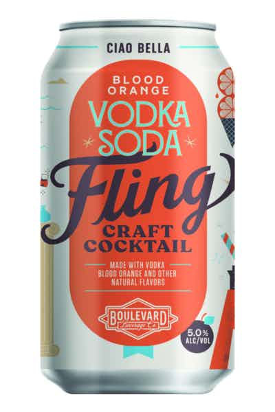 Fling Craft Cocktails Blood Orange Vodka Soda