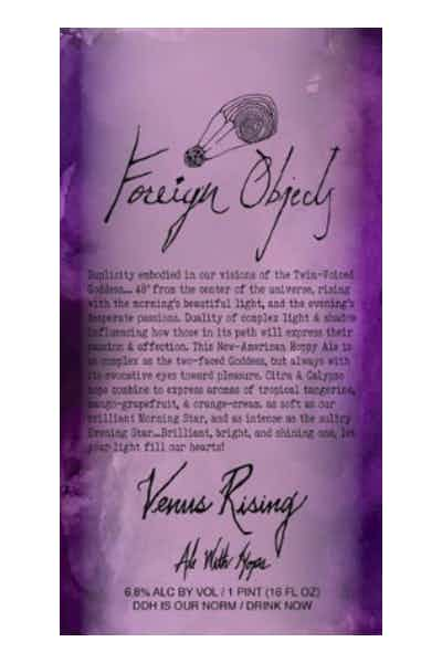 Foreign Objects Venus Rising Ale