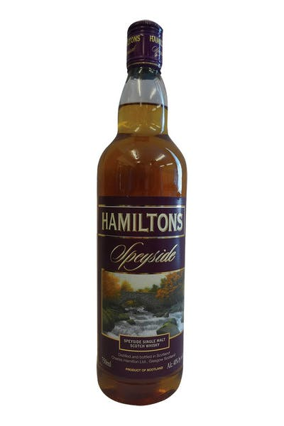 Hamilton's Speyside Single Malt Scotch Whisky
