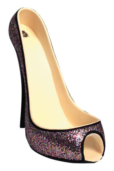 High Heel Wine Btl Holder   Confetti