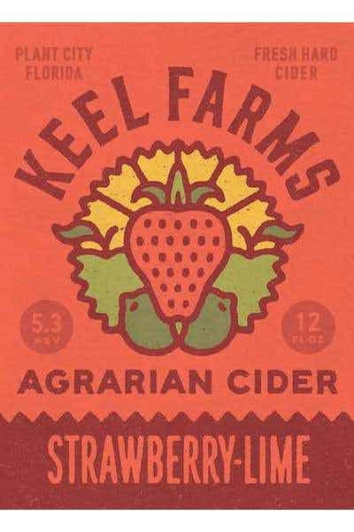 Keel Farms Agrarian Cider Strawberry Lime