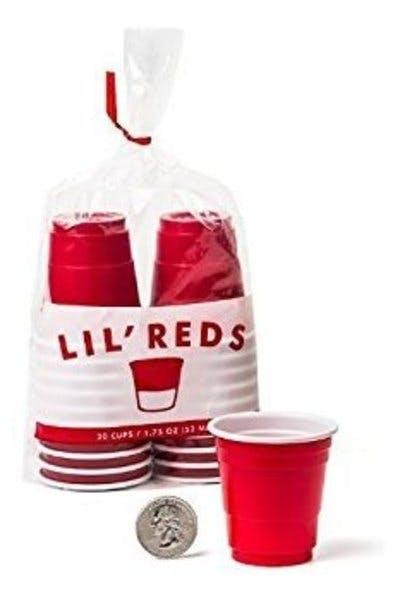 Lil' Reds Mini Plastic Cups