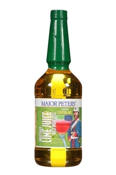 Major Peters Sweetened Lime Juice