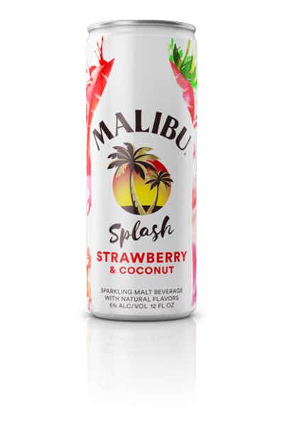 Malibu Splash Strawberry & Coconut Sparkling Malt Beverage