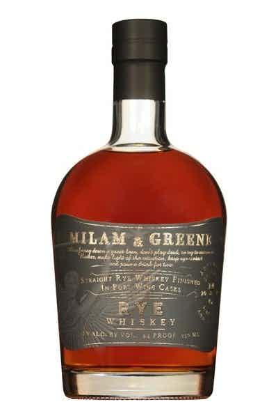 Milam & Greene Straight Rye Whiskey Finished in Port Wine Casks