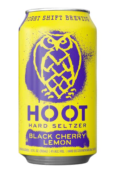 Night Shift Hoot Hard Seltzer Black Cherry Lemon