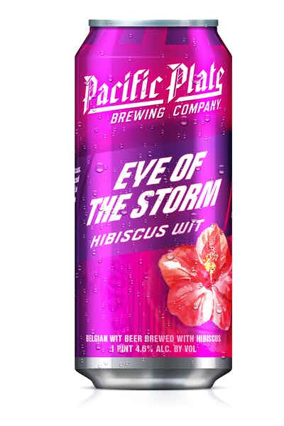 Pacific Plate Eye of the Storm Hibiscus Wit