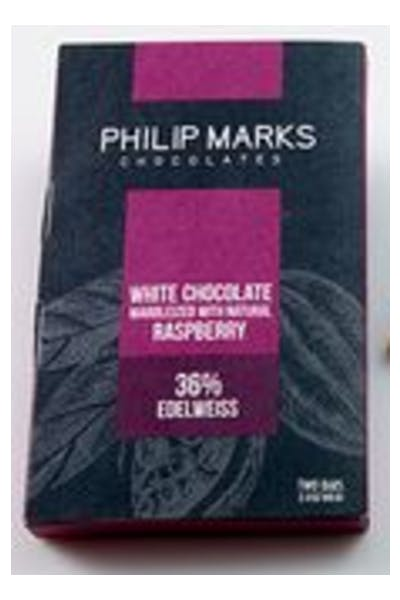 Philip Marks White Chocolate Raspberry Marbelized Bar