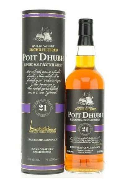 Poit Dhubh Blended Malt Scotch 21 Years