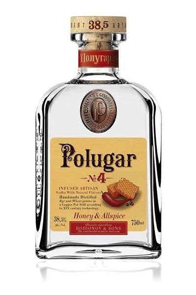 Polugar #4 Honey & Allspice Flavored Vodka