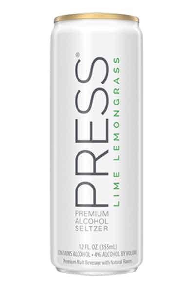 PRESS Premium Hard Seltzer Lime Lemongrass