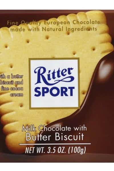Ritter Sport Milk Chocolate Bar With Butter Biscuit