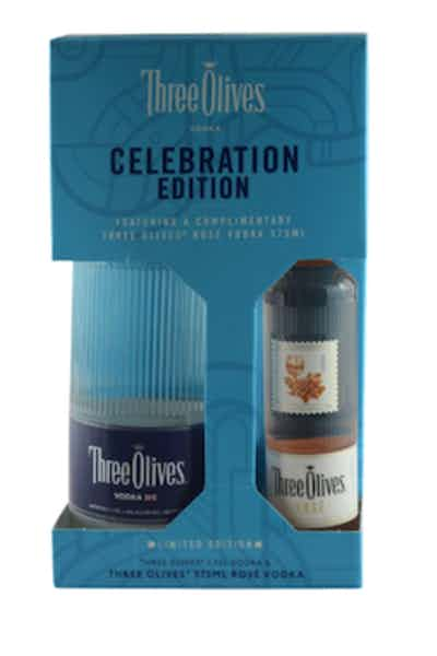 Three Olives Vodka Celebration Edition Gift Set W/ 100ml Three Olives Rose