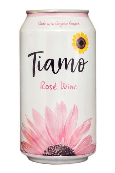 Tiamo Organic Rose Canned Wine