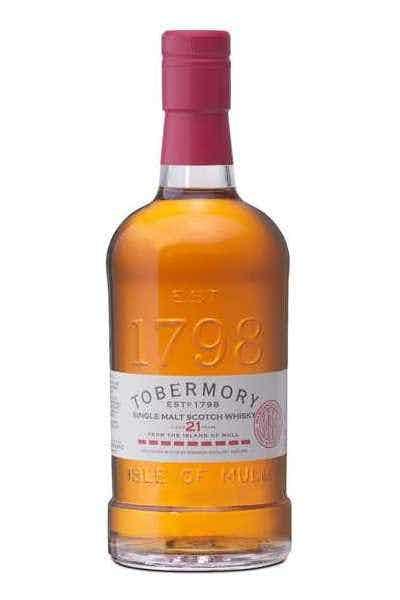 Tobermory 21 Year Single Malt Scotch