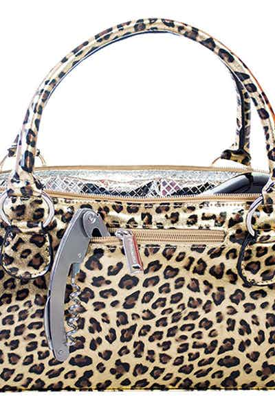Wine Clutch Cheetah