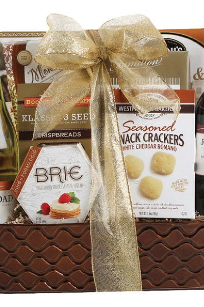 Wine Gift Basket River Road Cabernet And Chardonnay