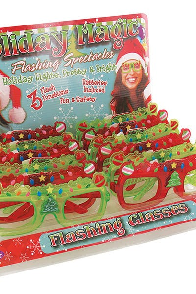 Xmas Flashing Glasses